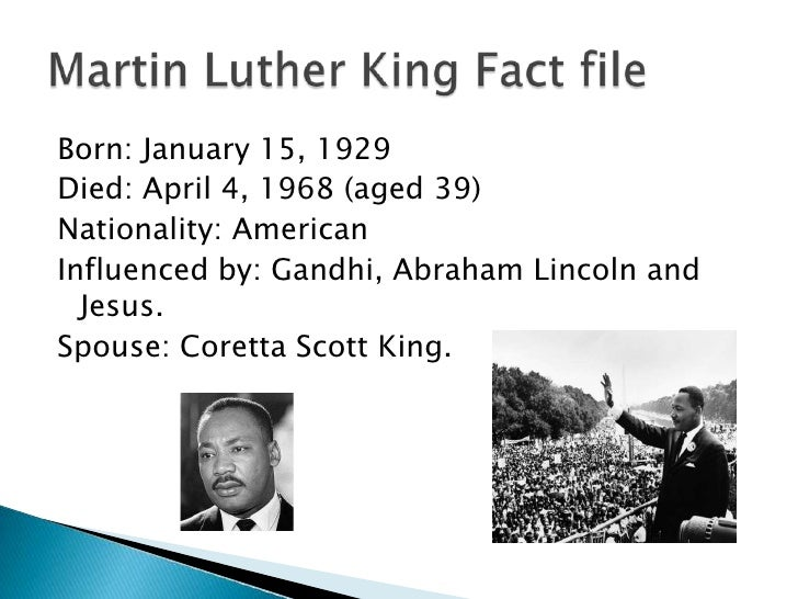 Luther King Powerpoint