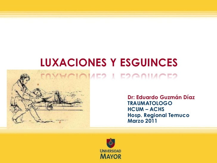 Dr: Eduardo Guzmán Díaz TRAUMATOLOGO  HCUM – ACHS Hosp. Regional Temuco Marzo 2011