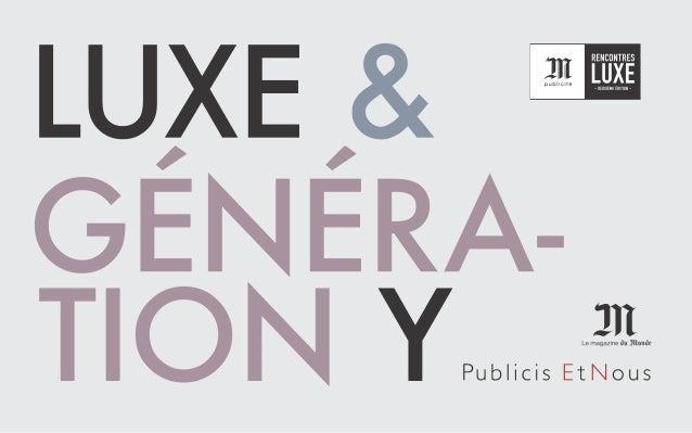 Luxe & Génération Y