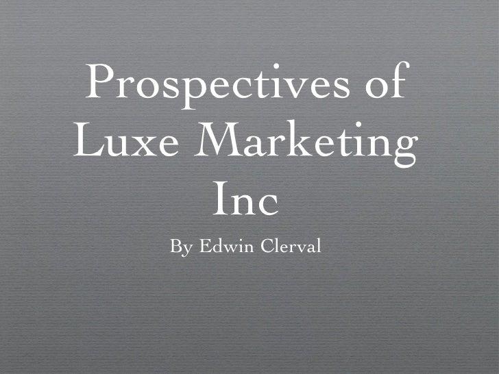 Luxe marketing(1)