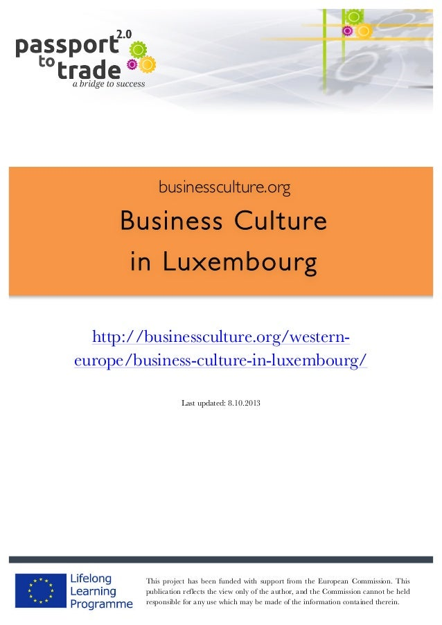 Luxembourg business culture guide - Learn about Luxembourg