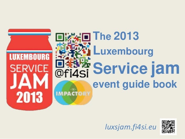 Luxembourg Service Jam 2013 - Guide book