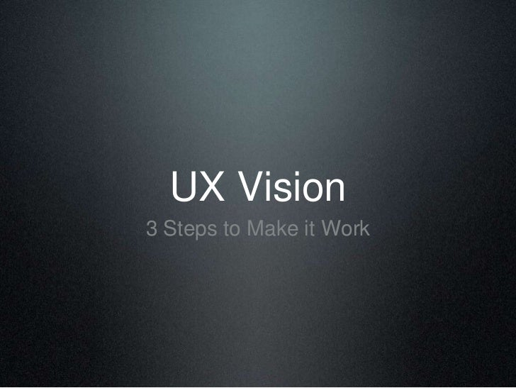 UX Vision leanuxmachine
