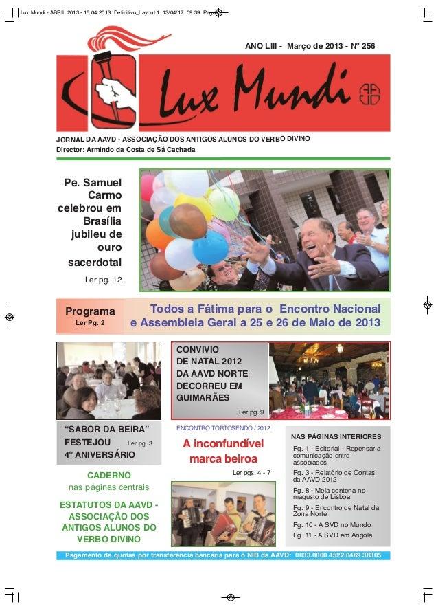 Lux Mundi - ABRIL 2013 - 15.04.2013. Definitivo_Layout 1 13/04/17 09:39 Page1                                             ...