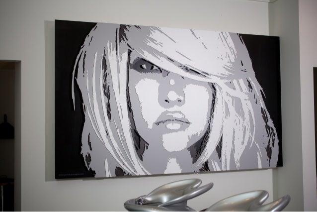 Lux salon dimensional wall graphic