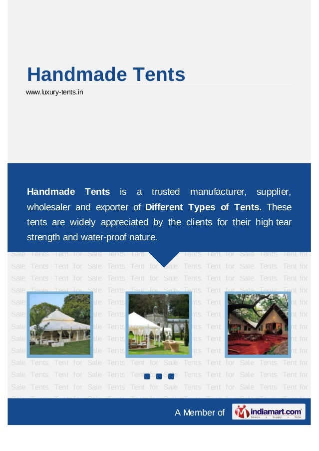 Exclusive Tents by Luxury tents