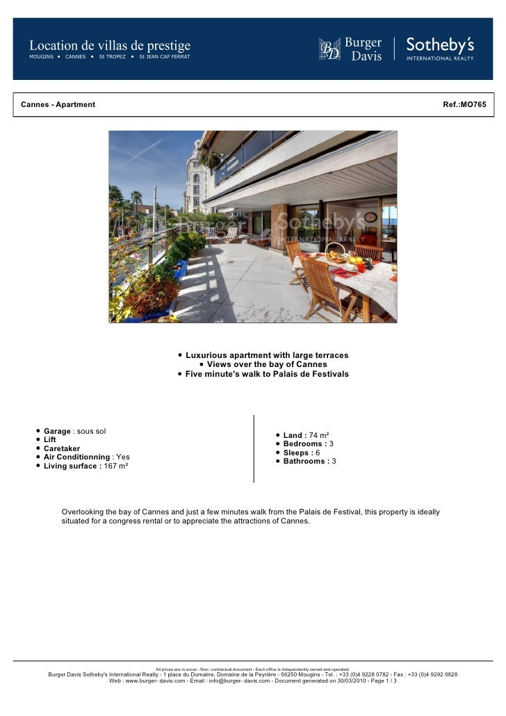 Luxury Apartment On La Croisette | Cannes Luxury Apartment