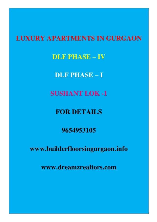 Luxury Apartments In Gurgaon DLF Phase IV / Sushant Lok -1