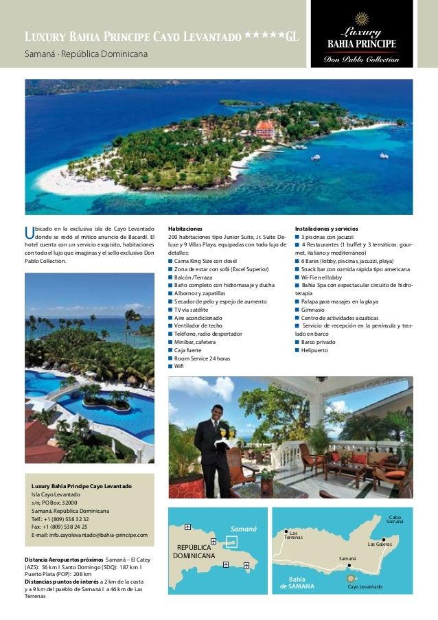 Ficha de Luxury Bahia Principe Cayo Levantado