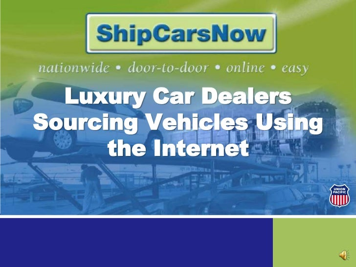 Luxury Car Dealers Sourcing Vehicles Using the Internet<br />