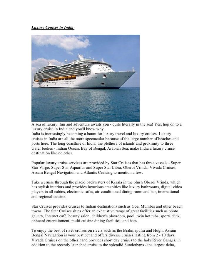 Luxury Cruises In India