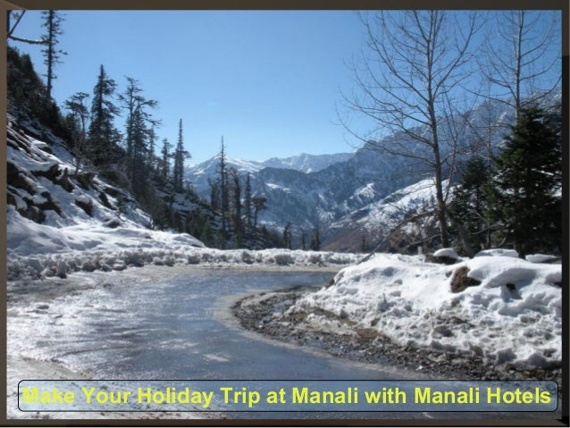 Make Your Holiday Trip at Manali with Manali Hotels