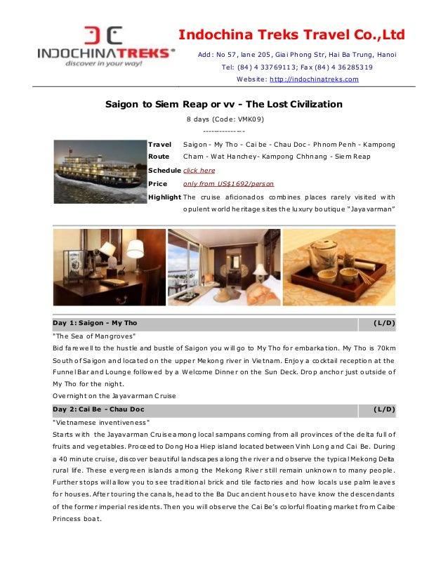 Luxury Jayavarman Cruise, Mekong Vietnam