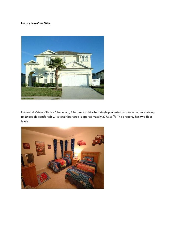 Luxury LakeView Villa     Luxury LakeView Villa is a 5 bedroom, 4 bathroom detached single property that can accommodate u...