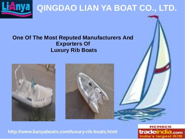 Luxury Rib boats Design & Manufacturer by LIAN YA, China