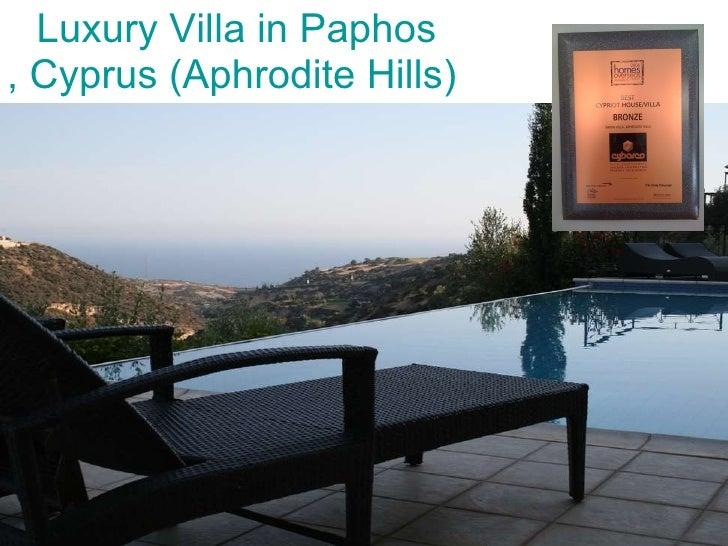Luxury Villa In Paphos, Cyprus - Aphrodite