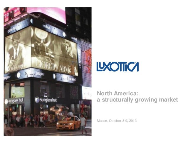 Mason, October 8-9, 2013 North America: a structurally growing market