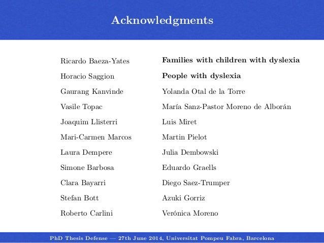 thesis of dyslexia