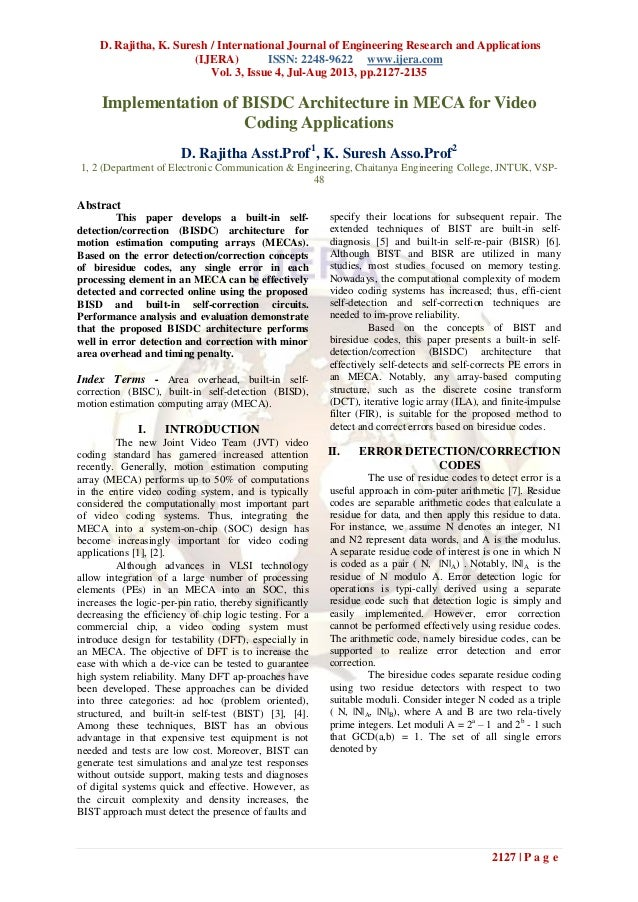 D. Rajitha, K. Suresh / International Journal of Engineering Research and Applications (IJERA) ISSN: 2248-9622 www.ijera.c...