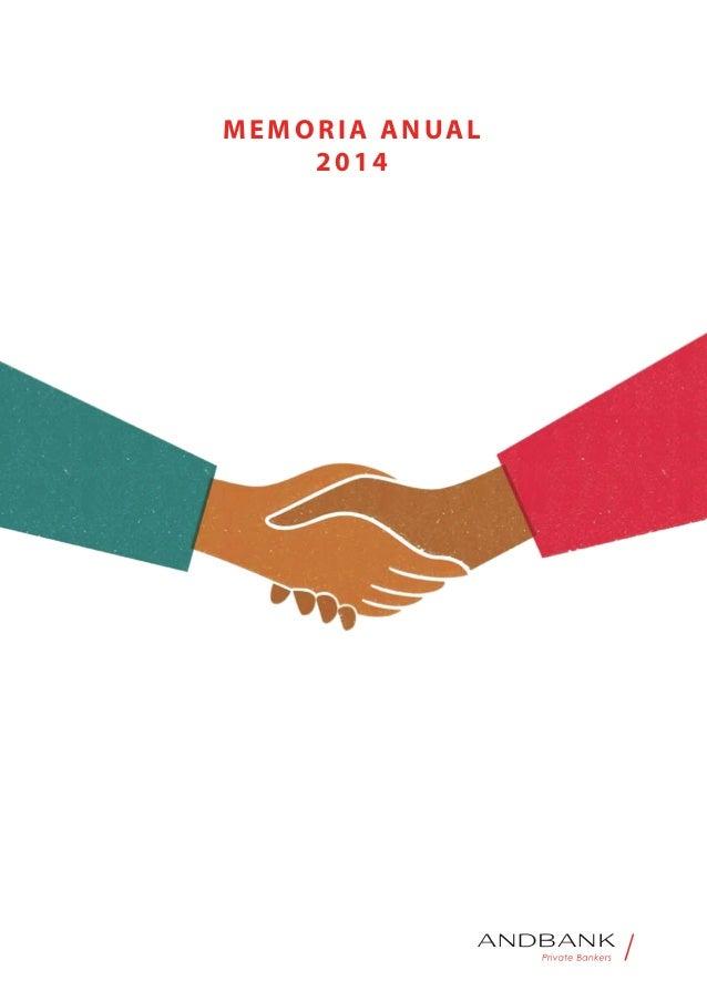 Andbank memoria anual de 2014 banca privada for Memoria anual