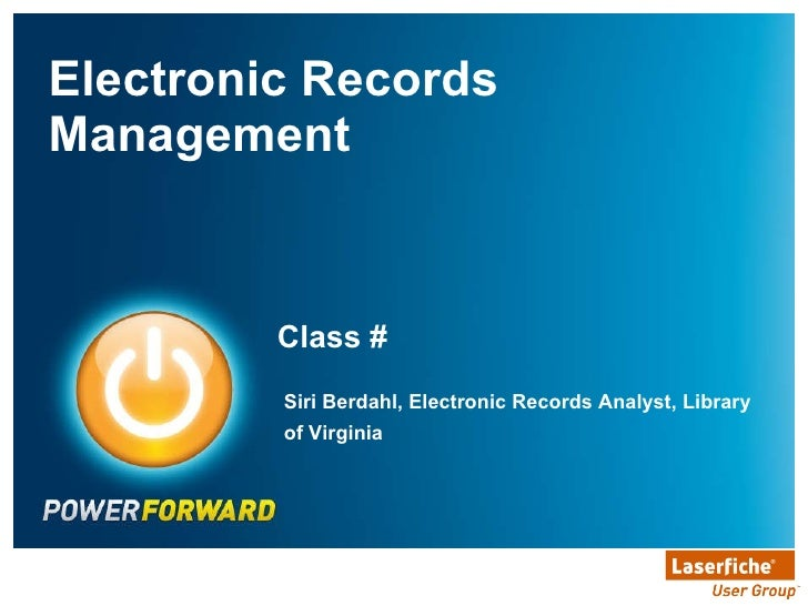 LVA Electronic Records Management