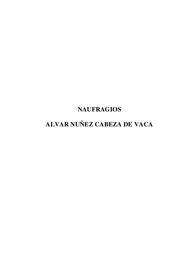 NAUFRAGIOSALVAR NUÑEZ CABEZA DE VACA