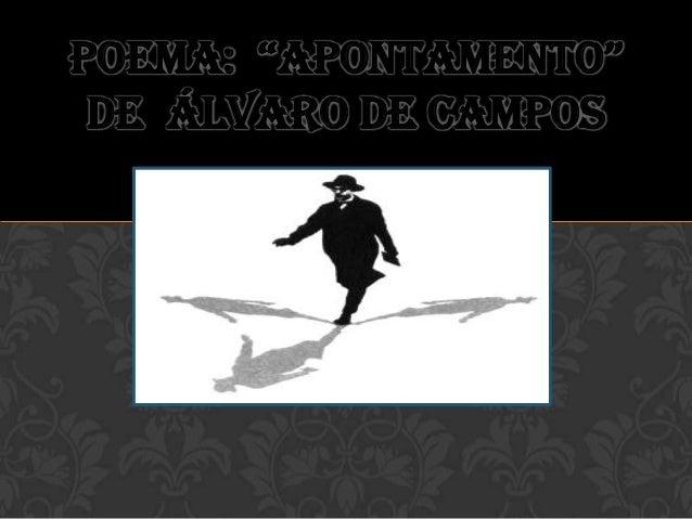 """Poema: """"ApontAmento"""" de Álvaro de Campos"""