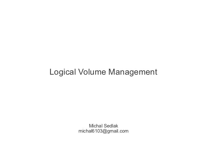 Linux: LVM