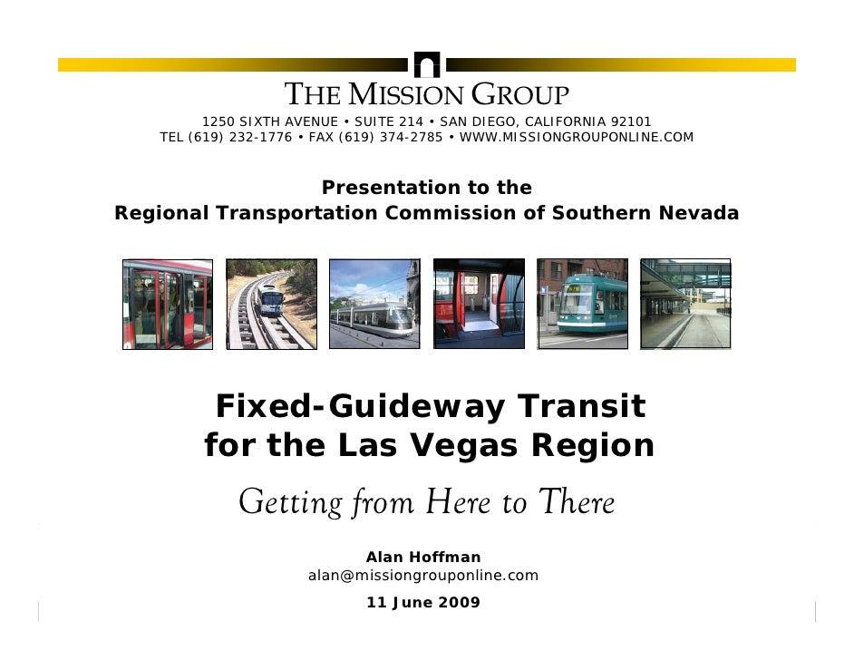 Fixed-Guideway Transit for the Las Vegas Region