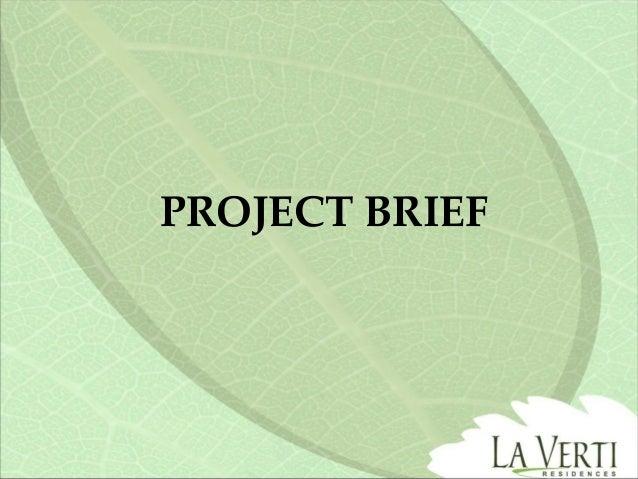 LA Verti project brief sales