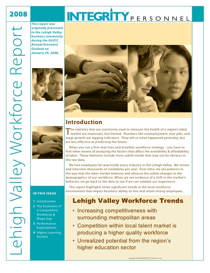 2008                                  This report was                                  originally presented Lehigh Valley ...