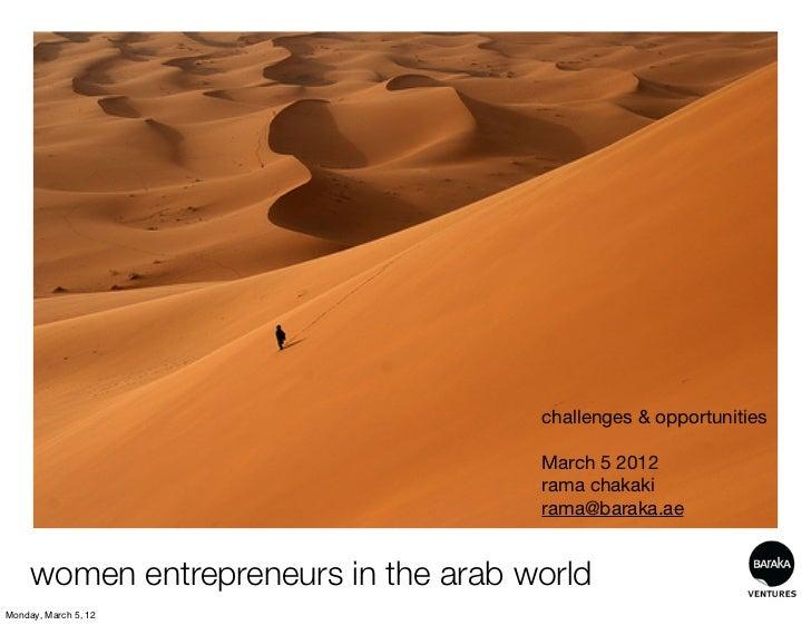 women entrepreneurs in the arab world