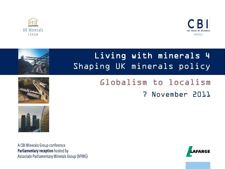 Living with Minerals 4 - Shaping UK minerals policy - Part 1