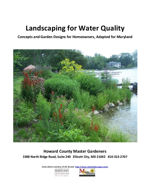 Landscaping for Water Quality: Concepts and Garden Designs for Homeowners, Adapted for Maryland