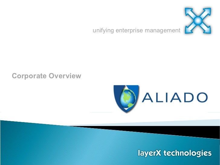 unifying enterprise management Corporate Overview