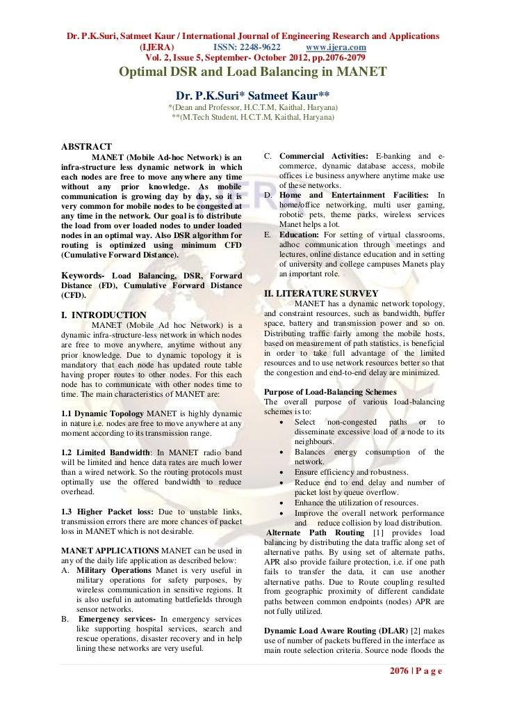 Dr. P.K.Suri, Satmeet Kaur / International Journal of Engineering Research and Applications                   (IJERA)     ...