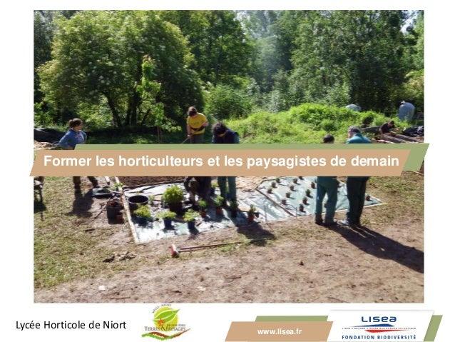 www.lisea.fr Former les horticulteurs et les paysagistes de demain Lycée Horticole de Niort