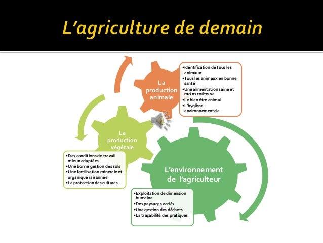 L'environnement de l'agriculteur •Exploitation de dimension humaine •Des paysages variés •Une gestion des déchets •La traç...