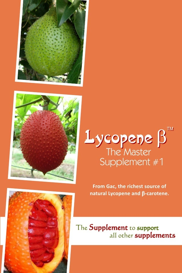 Lycopene - β : The Master Supplement 09370322999