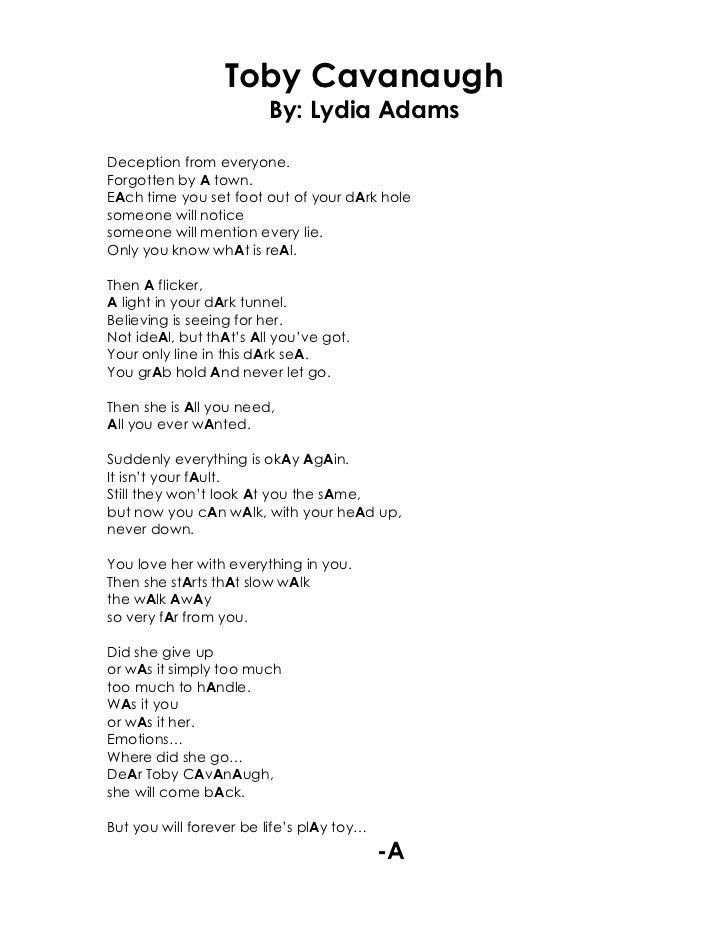 Lydia - Toby Cavanaugh