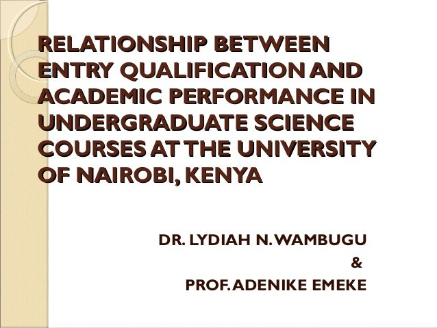 University qualification
