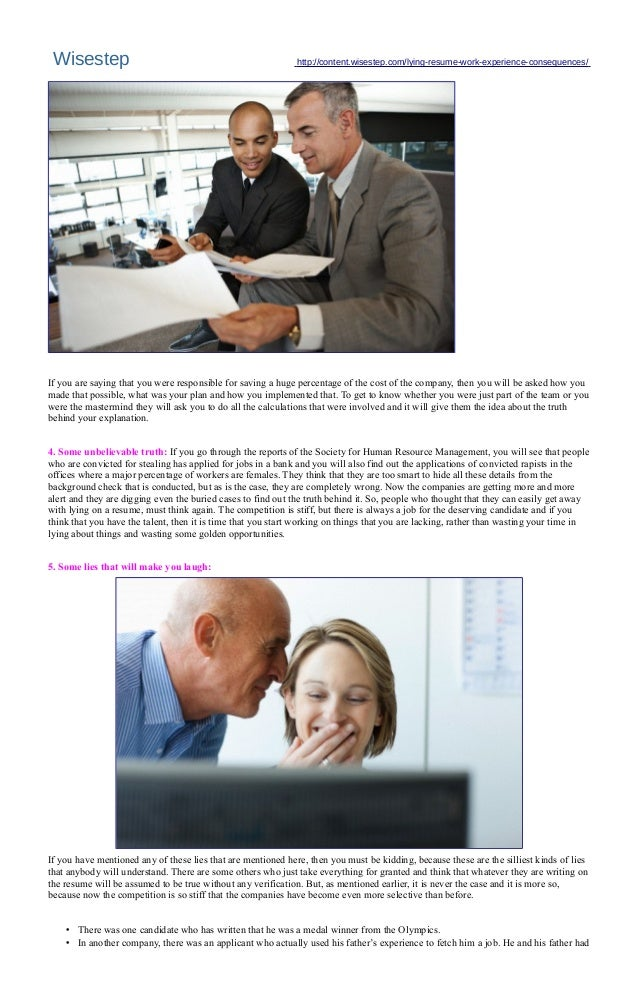 marquet international resume liars club - Fake Resume Lying On Resume Consequences