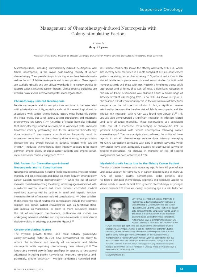 Lyman managementofchemotherapy-induced