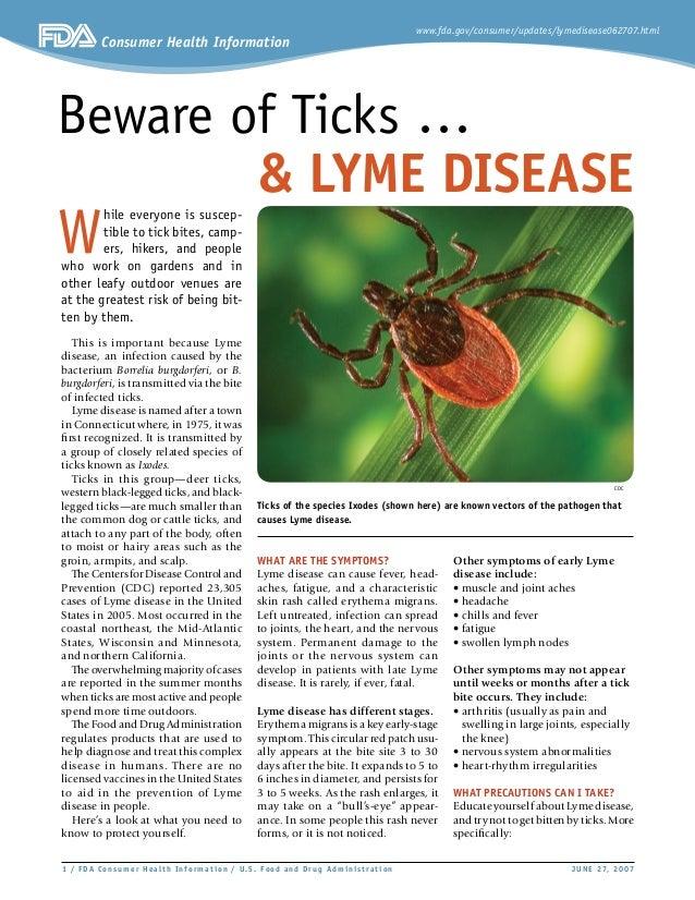 www.fda.gov/consumer/updates/lymedisease062707.html Consumer Health Information  / FDA Consumer Health Infor mat ion / U. ...