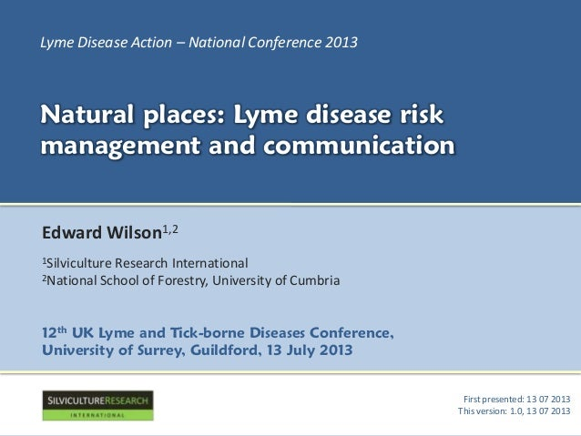 Natural places: Lyme disease risk management and communication.
