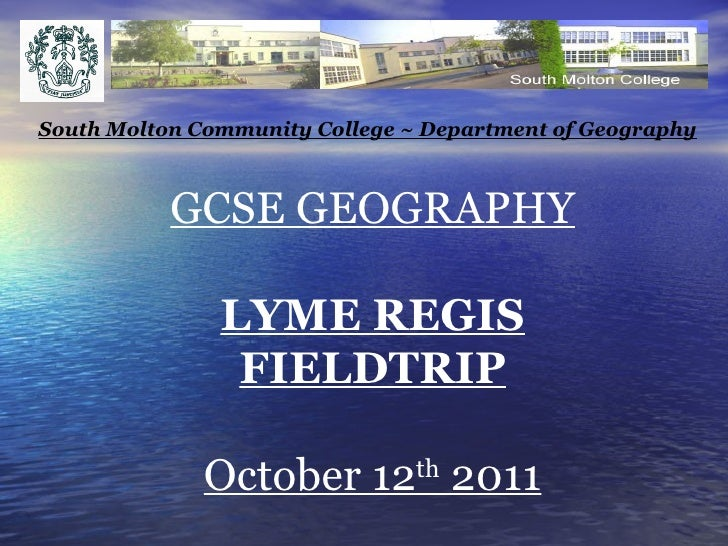 Lyme regis fieldtrip 2011