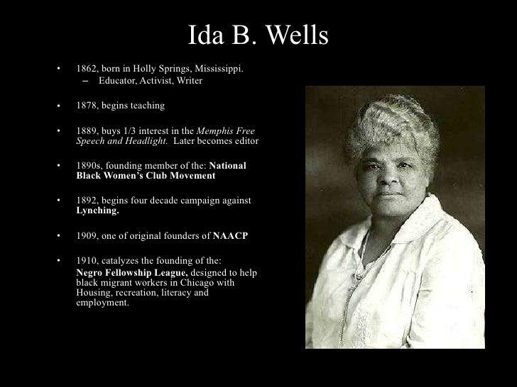 Women in power: ida b. Wells