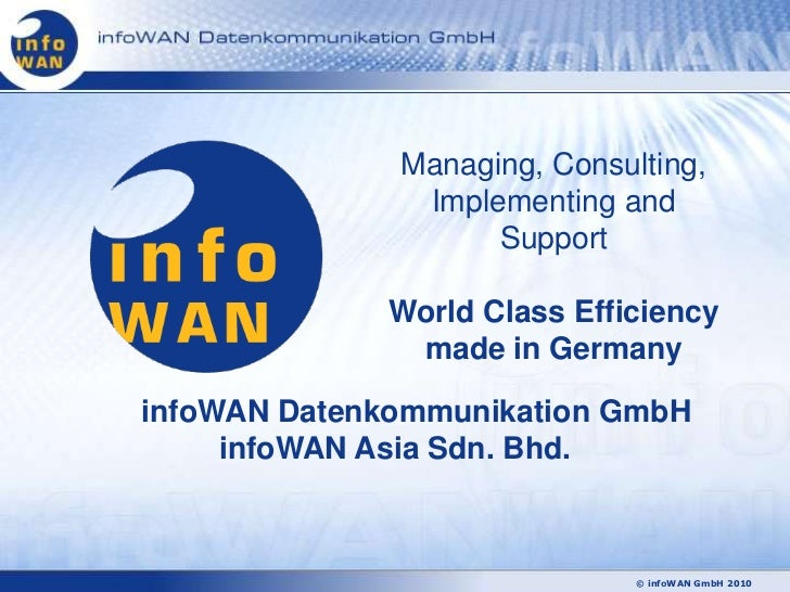 Managing, Consulting,               Implementing and                    Support             World Class Efficiency        ...