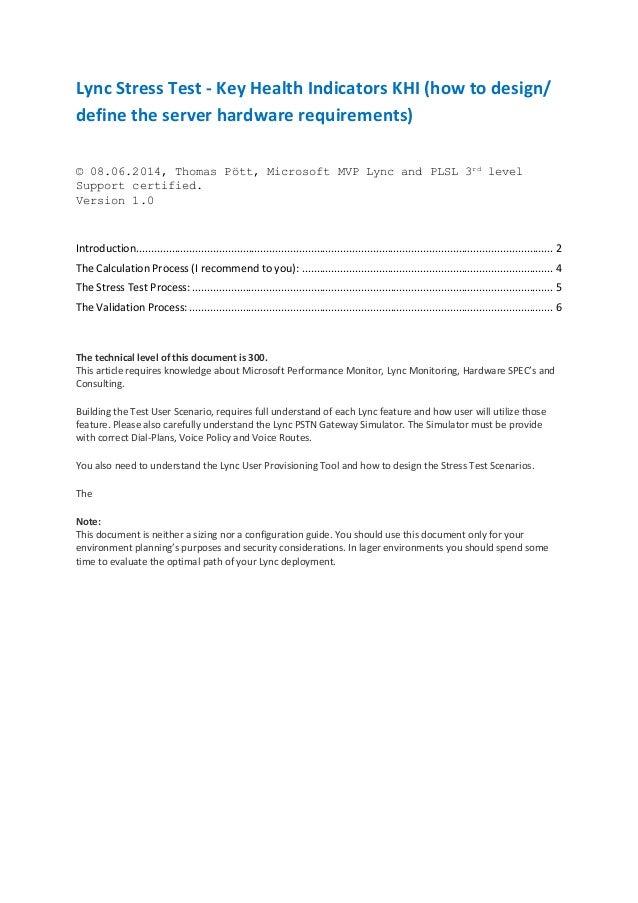 Lync stress test guide v1.0