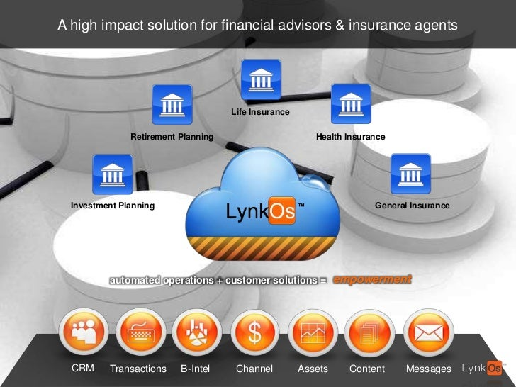 A high impact solution for financial advisors & insurance agents<br />Life Insurance<br />Health Insurance<br />Retirement...
